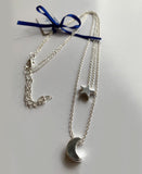 Elpida Star and Moon Silver Plated Necklace