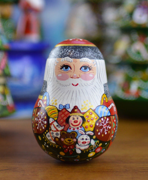 Peterhof: 'Figurine St Nicholas' - Hand Crafted Rolling Base Red Santa with Chime. 9cm.** PLEASE READ CONDITIONS OF SALE PRICE **