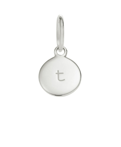 Little Kirstin Ash - Circle Letter Silver - T