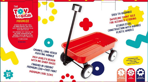Toylogical Stow and Go Red Wagon