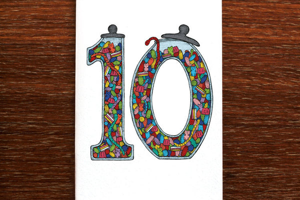 The Nonsense Maker Number 10 Card