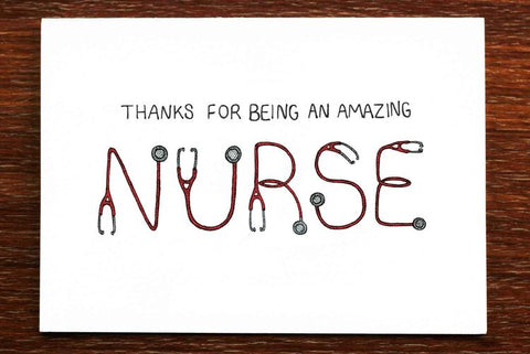 The Nonsense Maker Nurse Card