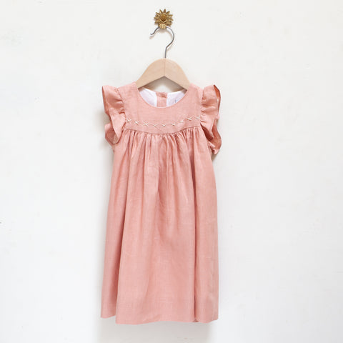 Pretty Wild Tia Dress Blush LInen