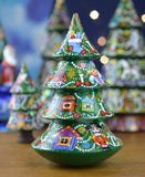 Peterhof: 'Culbuto Sapin' - Hand Crafted Wooden Christmas Tree with Bell and Rolling Base. 20cm.