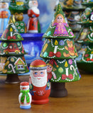 Peterhof: Hand Crafted Wooden Christmas Tree Babushka - Tree/Santa/Snowman - 12cm