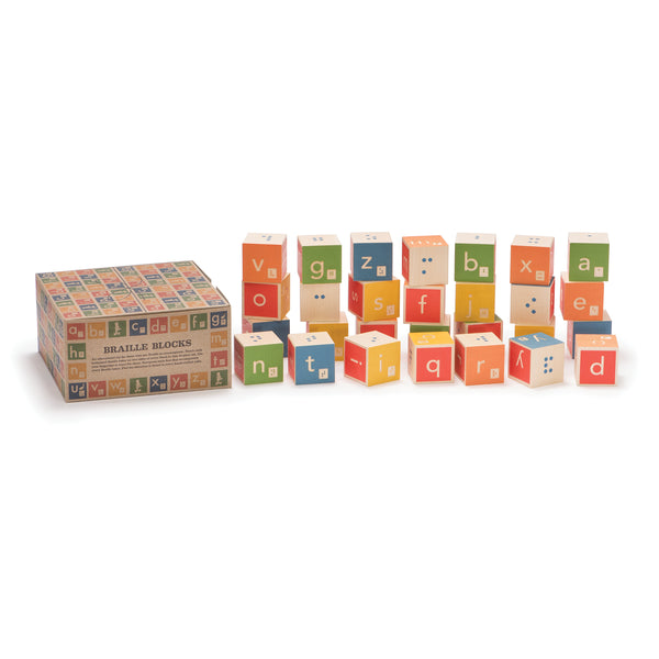 Uncle Goose Braille Alphabet Blocks Box/28