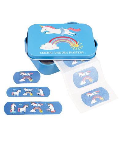 Unicorn Plasters / Bandaids in a Tin