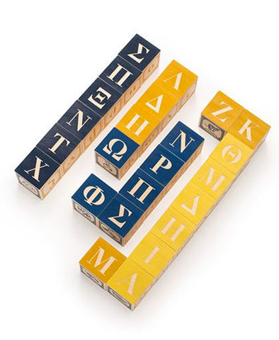 Uncle Goose Greek ABC Blocks