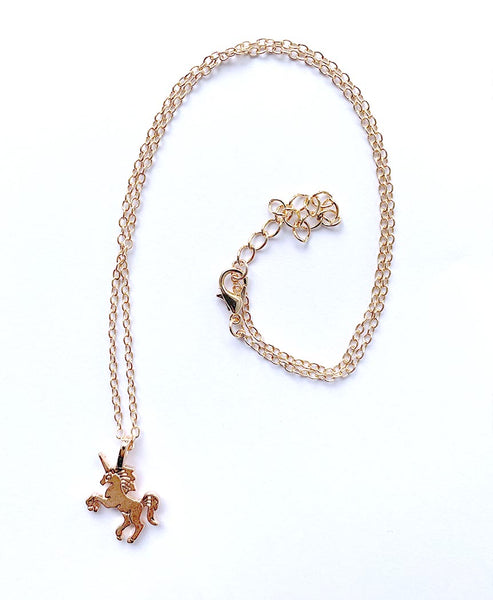 Elpida Gold Unicorn Necklace