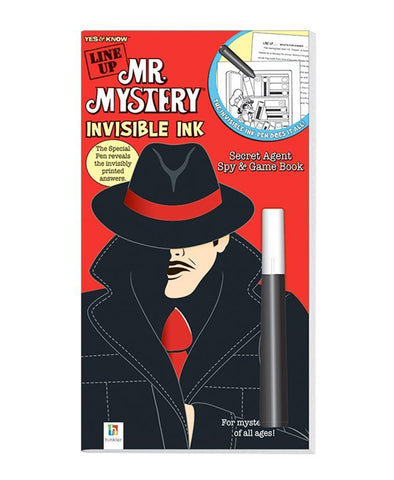Yes and Know Line Up Mr Mystery Ink Invisible Game Book