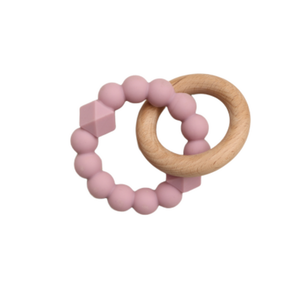 Jellystone Silicone Moon Teether Mauve