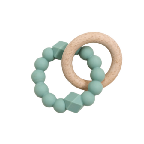Jellystone Silicone Moon Teether Sage