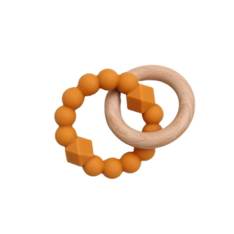 Jellystone Silicone Moon Teether Honey