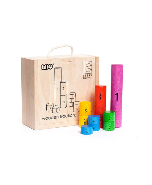 Bajo Wooden Fraction Set
