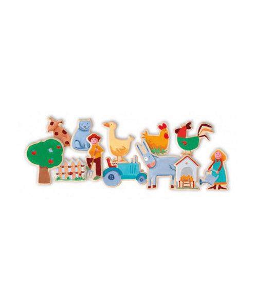 Djeco Farm Magnets
