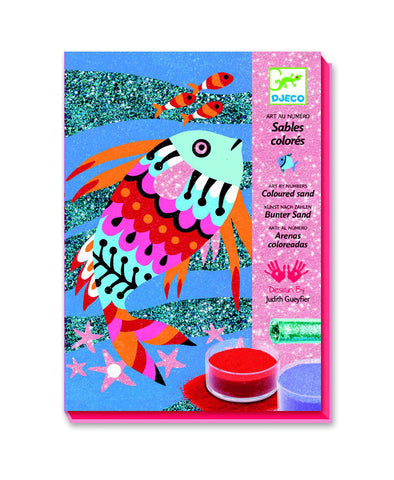 Djeco Fish Rainbow Colour Sand