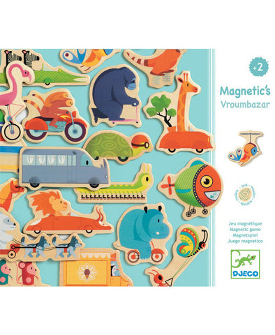 Djeco Magnetic Wooden Vroom Bazaar