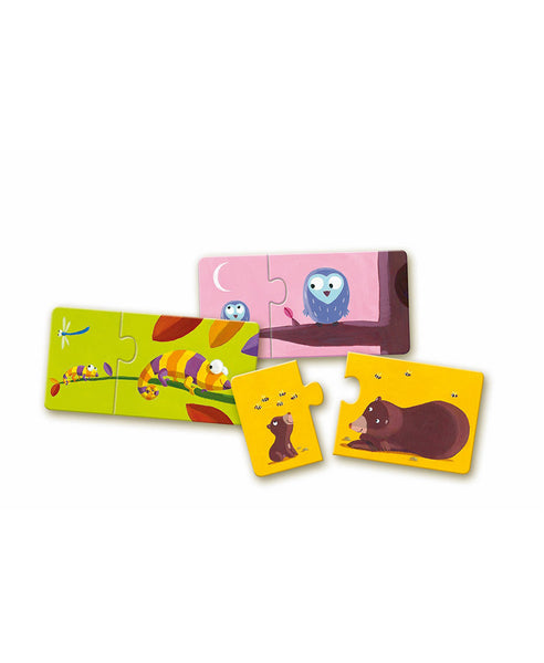 Djeco Hide Mum and Baby Puzzle Duo