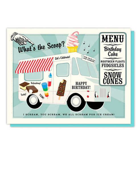 Driscoll Design What's the Scoop? Ice Cream Truck Card