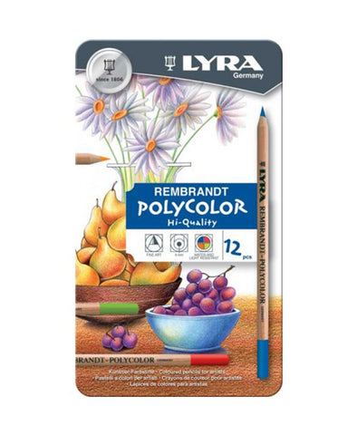 Lyra Rembrandt Polycolour Pencils - 2001120 - 12 Pack Tin