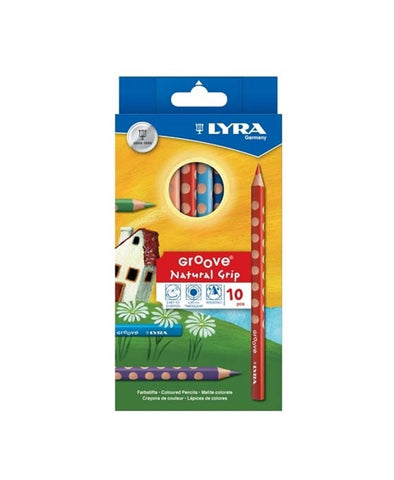 Lyra Groove Pencils - 10 Pack