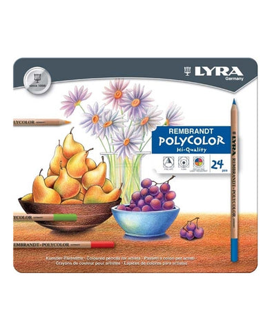 Lyra Rembrandt Polycolour Pencils - 2001240 - 24 Pack Tin
