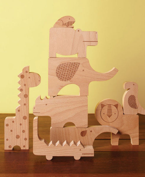 Petit Collage Wood Puzzle and Play: Safari