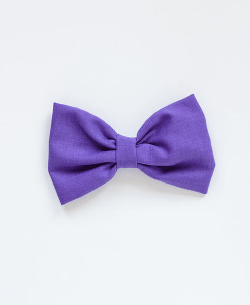Pretty Wild Single Bow Clip-Purple