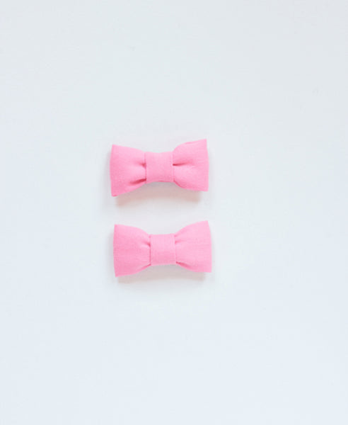 Pretty Wild Katie Twin Bow Clip Pink