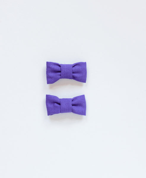 Pretty Wild Katie Twin Bow Clip Purple