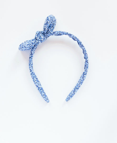 Pretty Wild Headband With Bow- Liberty Blue pepper