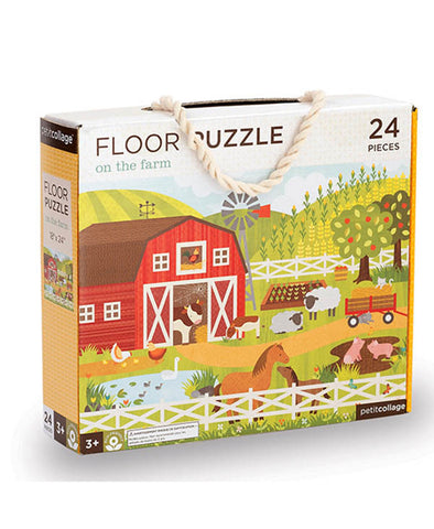 Petit Collage Floor Puzzle - On the Farm