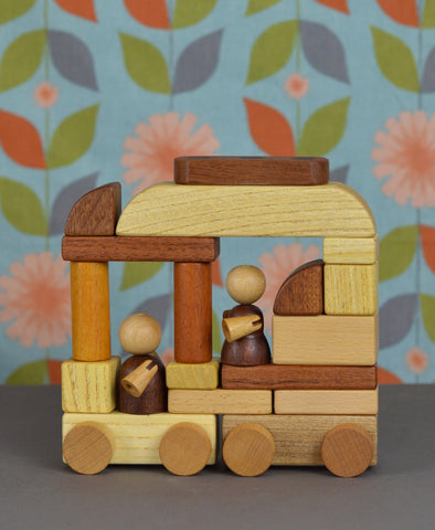 Soopsori Magnetic Wooden Cars & Blocks