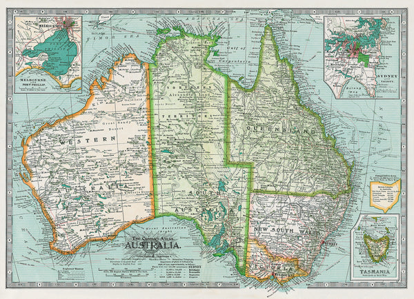 Cavallini Poster / Gift Wrap Map of Australia
