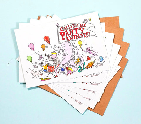 Wally Paper Co: Party Animals Invitations