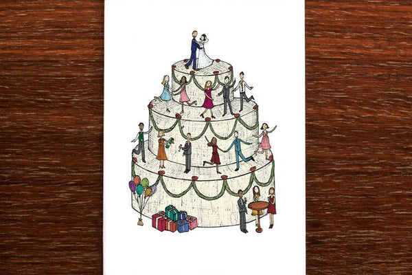 The Nonsense Maker Wedding Cake - Bride & Groom