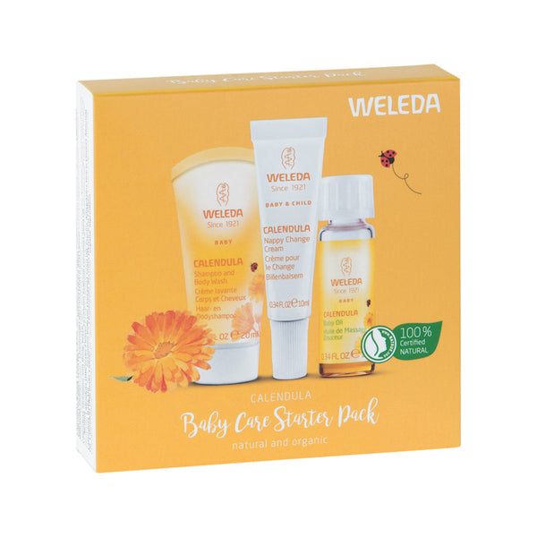 Weleda Calendula Baby Care Starter Pack (3 x trial size)