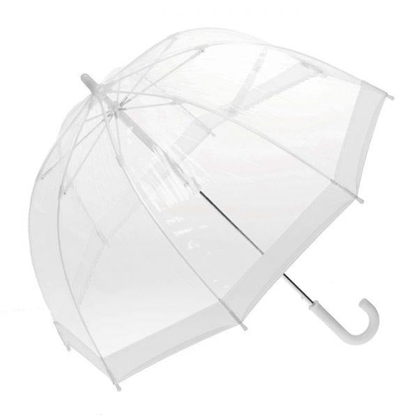 Clifton Umbrella - Birdcage Clear with White Trim