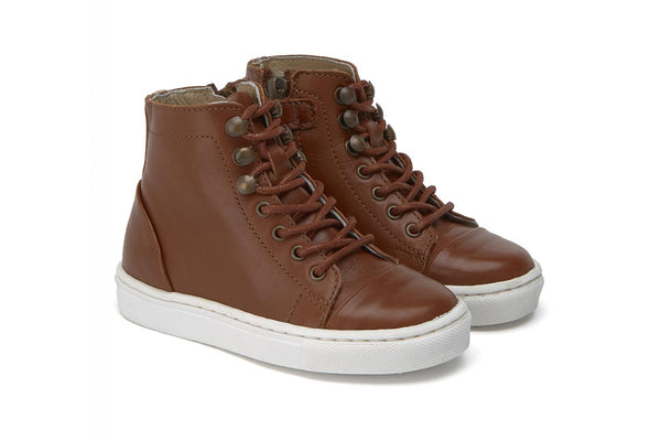 Young Soles Henry Sneaker Boot Chestnut Brown