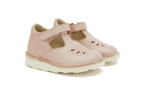 Young Soles Poppy T Bar Nude Pink
