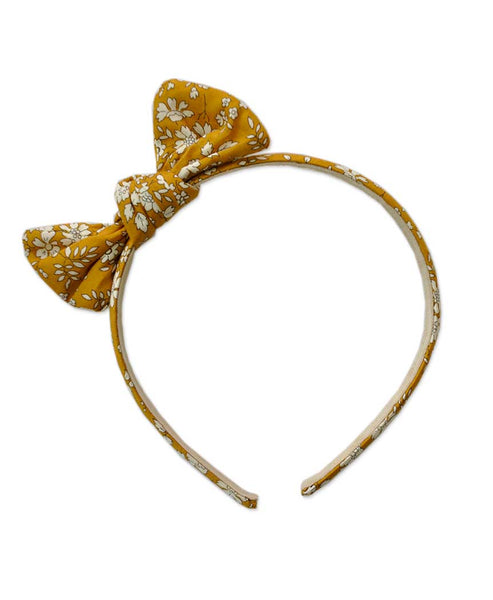 Pretty Wild Zoe Bow Headband Liberty Capel Mustard