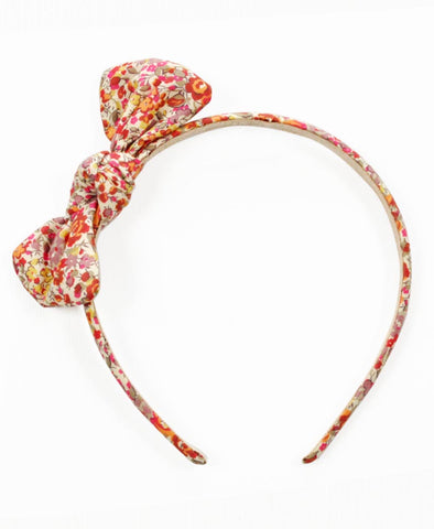 Pretty Wild Zoe Bow Headband Liberty Mallow Flower