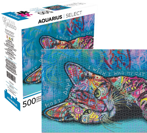 Aquarius Dean Russo 500 Piece Cat Jigsaw Puzzle
