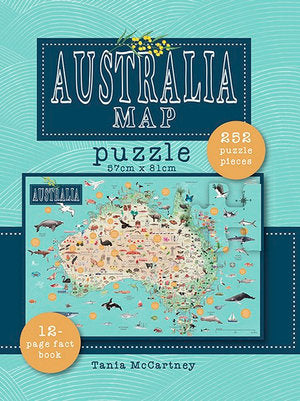 Australia Map Puzzle by Tania McCartney