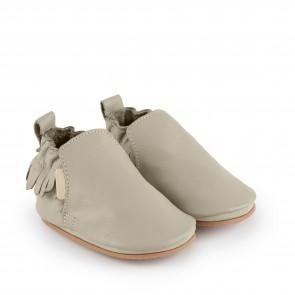 Boumy Bao Shoe Pale Grey Leather