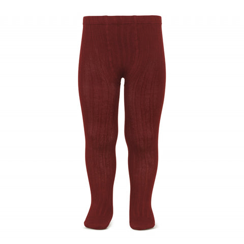Condor Ribbed Tights (#572 Borgona Red)