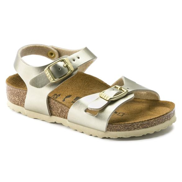 Birkenstock Rio Kids Metallic Gold NARROW