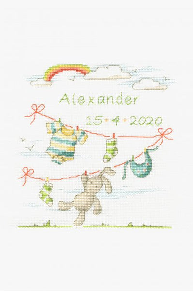 DMC New Baby Cross Stitch Kit - Bunny Baby