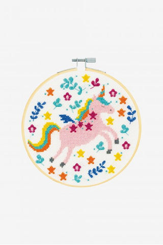 DMC Cross Stitch Kit with Hoop XS - Unicorn