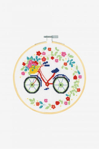 DMC Cross Stitch Kit with Hoop XS - Bicycle